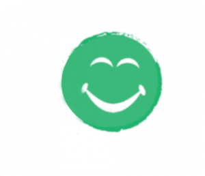 Green smiling face